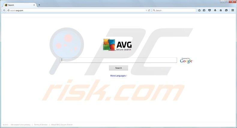AVG Search redirect page