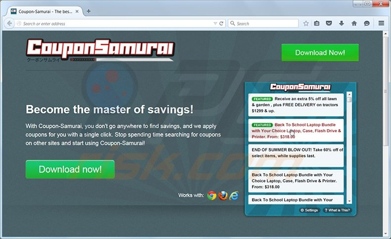 Coupon-Samurai adware