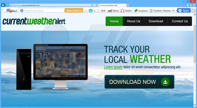 How to uninstall Current Weather Alert Adware - virus