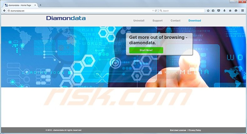 diamondata virus homepage