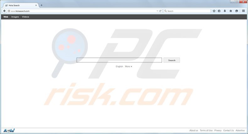 Holasearch.com browser hijacker