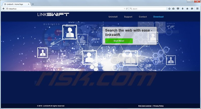 Linkswift virus homepage