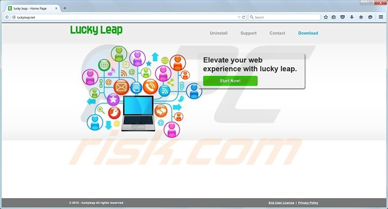 Lucky Leap virus homepage