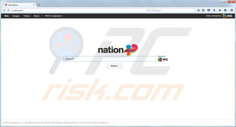 Nation search redirect page