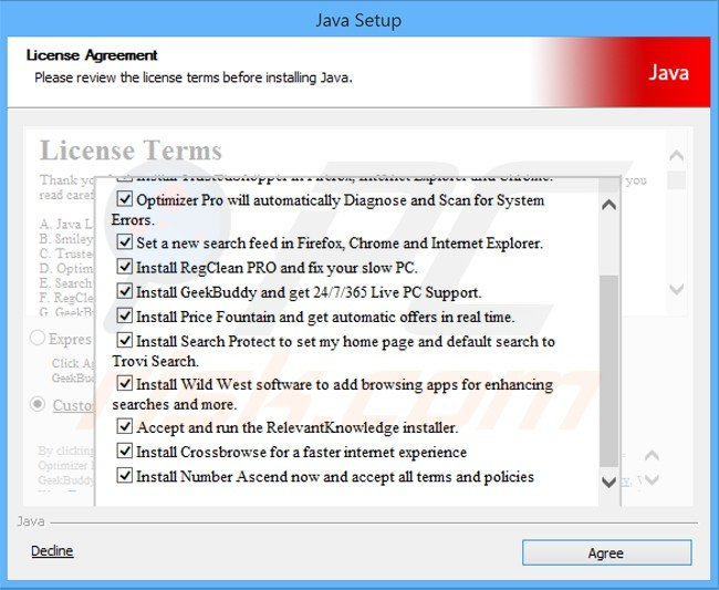 number ascend adware installer