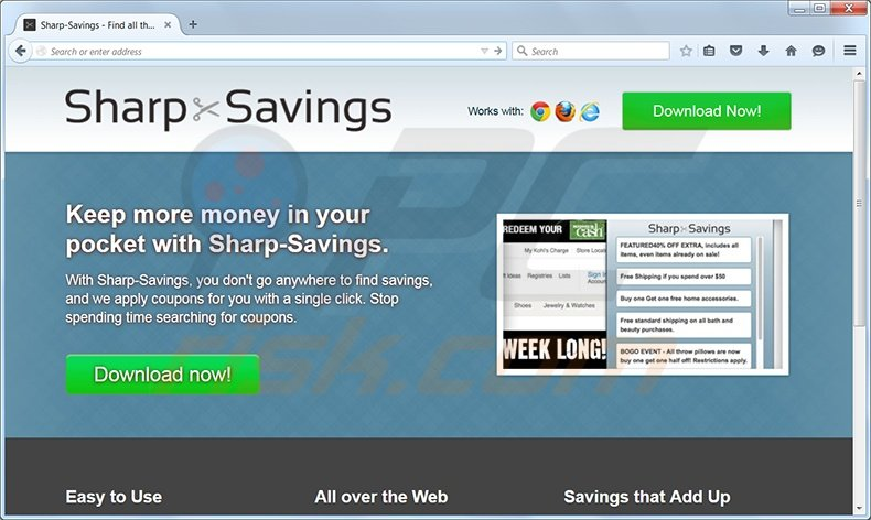 sharp savings virus