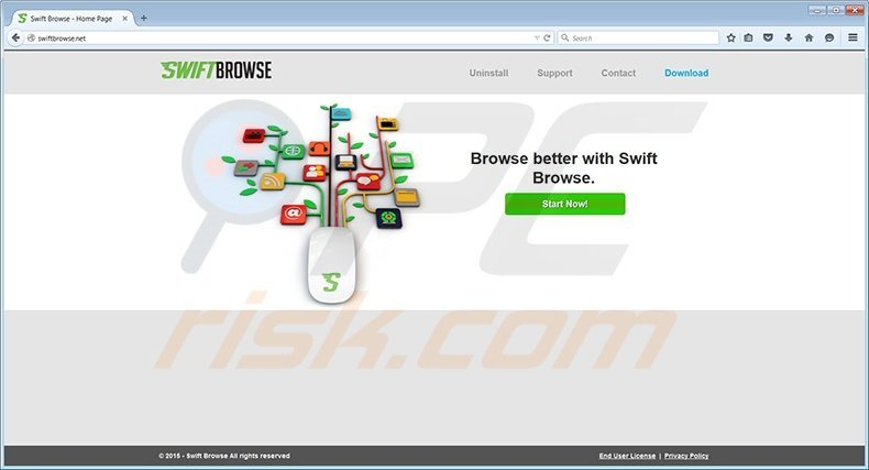 SwiftBrowse virus homepage