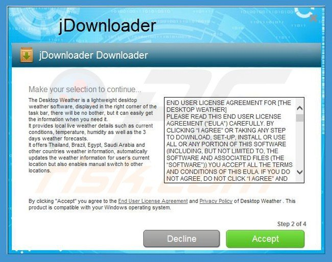 How to uninstall The Desktop Weather Adware - virus removal