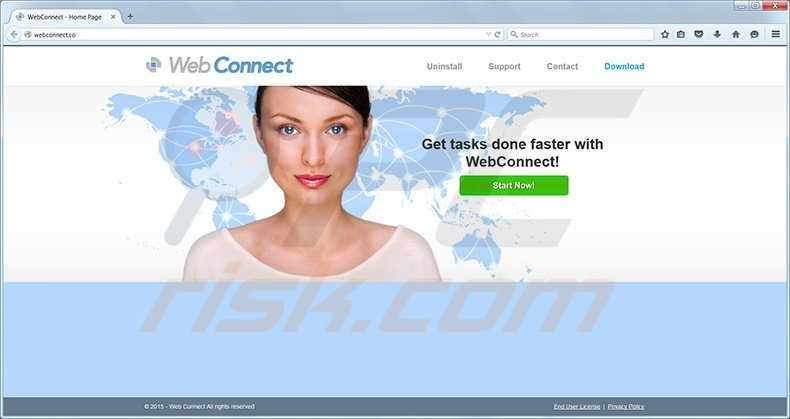 Web Connect virus homepage