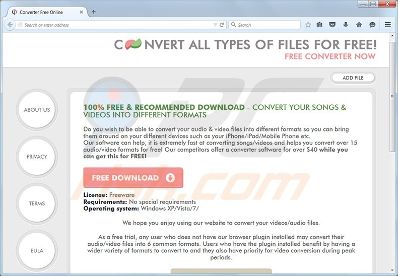 How to uninstall Converter Free Online adware - virus removal