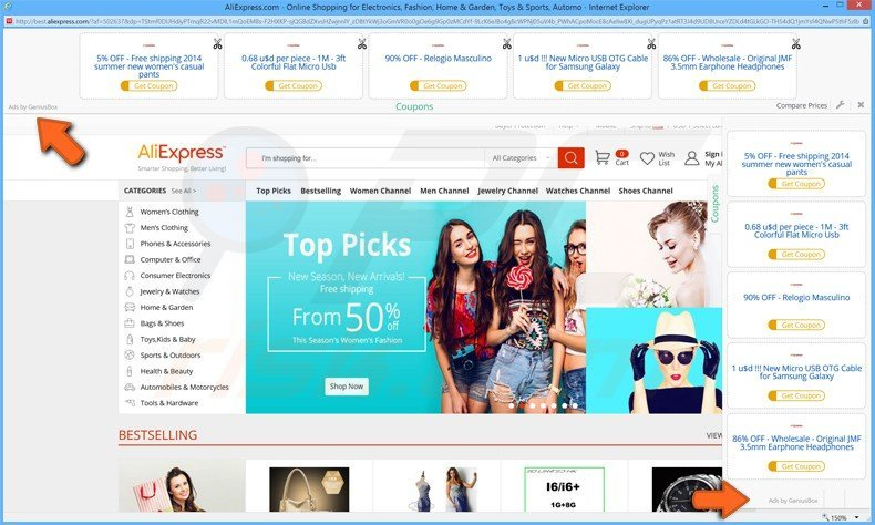 How to uninstall geniusbox adware virus removal instructions for Online discount shopping sites