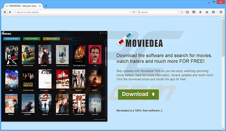 MovieDea adware