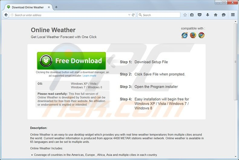 Online Weather adware