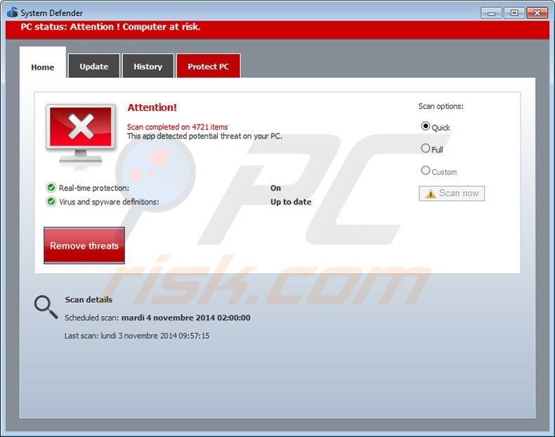 security defender fake antivirus program