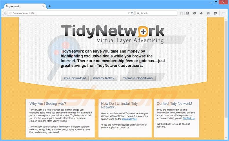 How to uninstall TidyNetwork Ads - Virus removal instructions