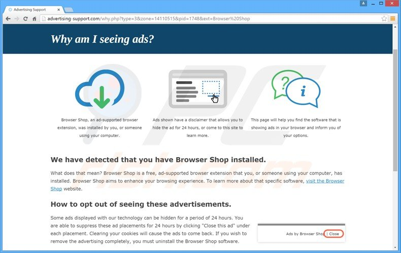browser shop adware
