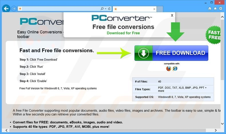How to get rid of PConverter Toolbar - virus removal guide