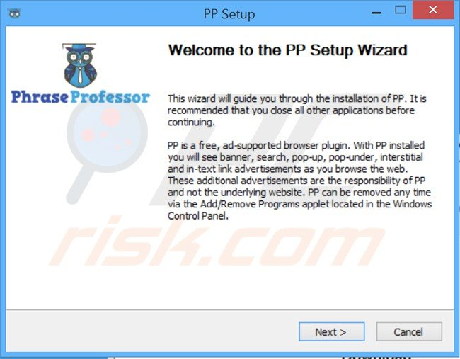 phraseprofessor adware installer setup