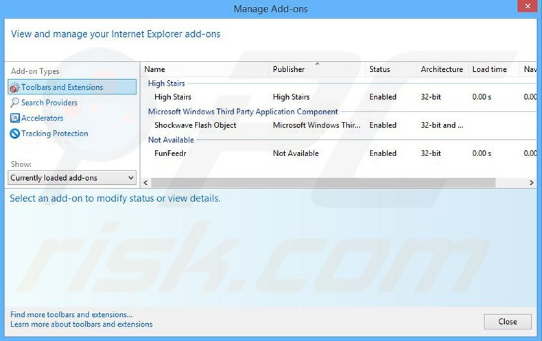 Removing Cant Miss Coupons ads from Internet Explorer step 2