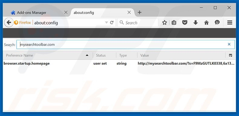 Removing mysearchtoolbar.com from Mozilla Firefox default search engine