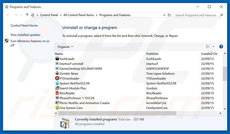 mysearchtoolbar.com browser hijacker uninstall via Control Panel