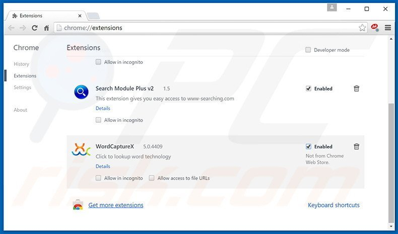 Removing Safe Browsing ads from Google Chrome step 2