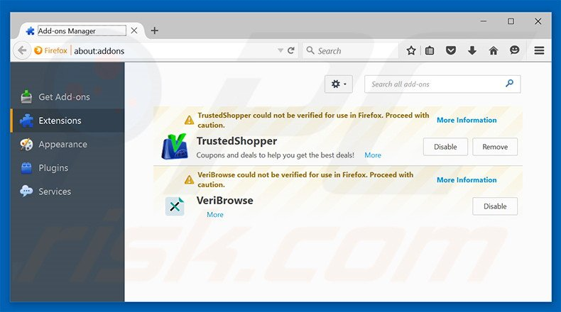 Removing Speedy Media Converter ads from Mozilla Firefox step 2