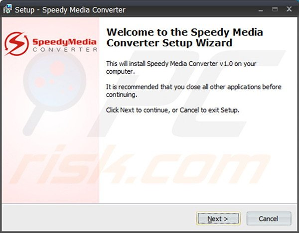 Official Speedy Media Converter adware installation setup