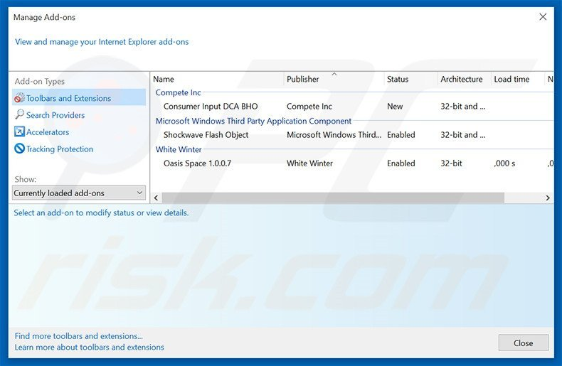 Removing WhiteWindow ads from Internet Explorer step 2