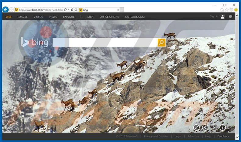bing.com browser hijacker
