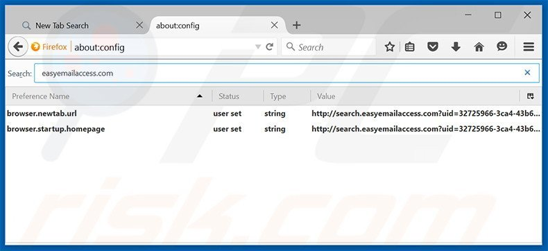 Removing search.easyemailaccess.com from Mozilla Firefox default search engine