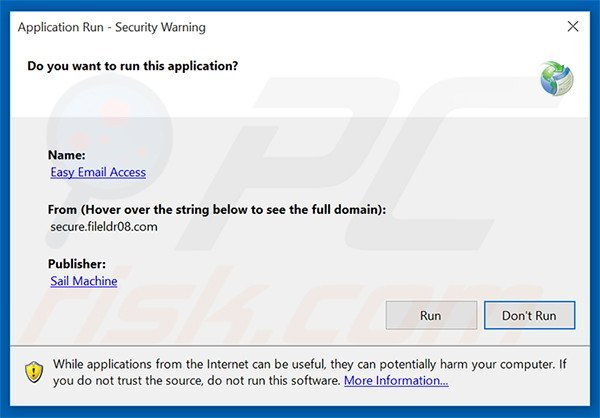 Official Easy Email Access browser hijacker installation setup