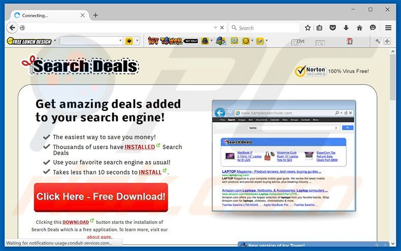 How to remove search deals by injekt