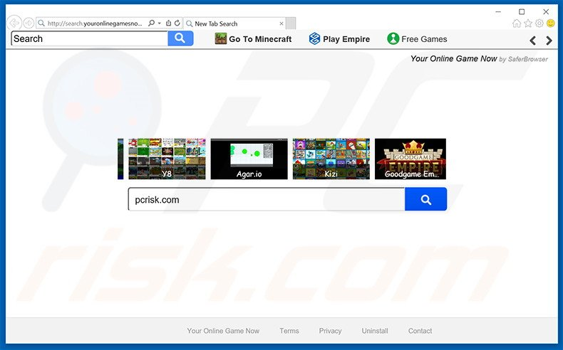 search.youronlinegamesnow.com browser hijacker