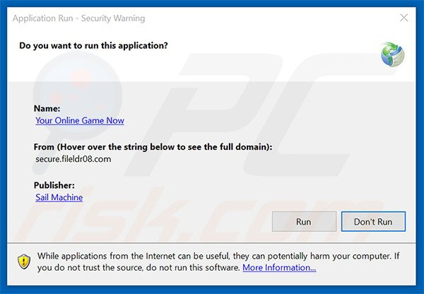 Official Your Online Game Now browser hijacker installation setup