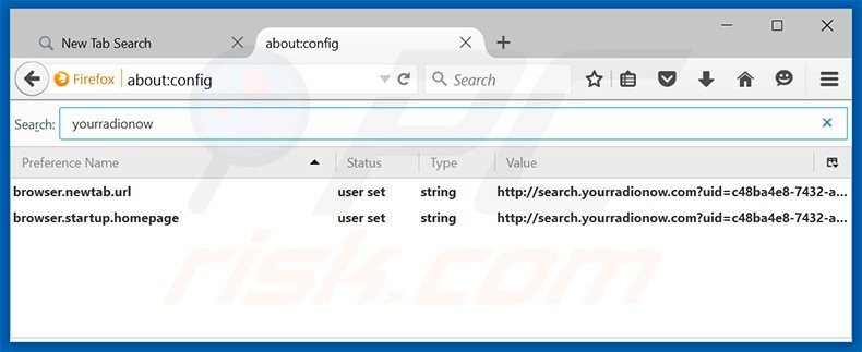 Removing search.yourradionow.com from Mozilla Firefox default search engine