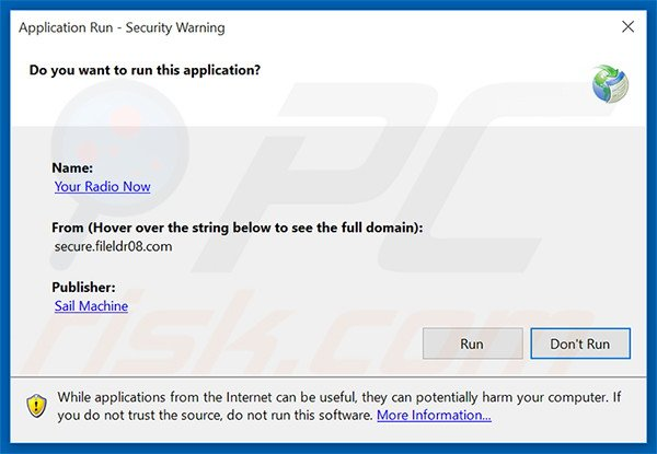 Official Your Radio Now browser hijacker installation setup