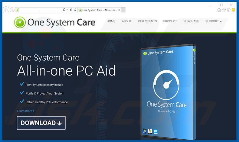 One System Care unwanted application