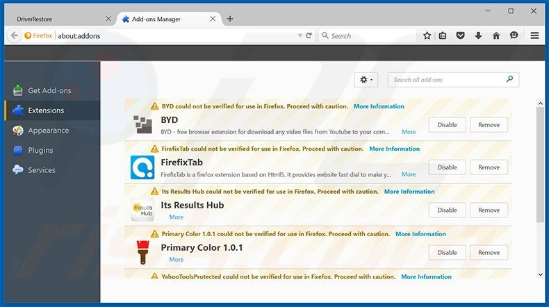 Removing PC Fix Speed ads from Mozilla Firefox step 2
