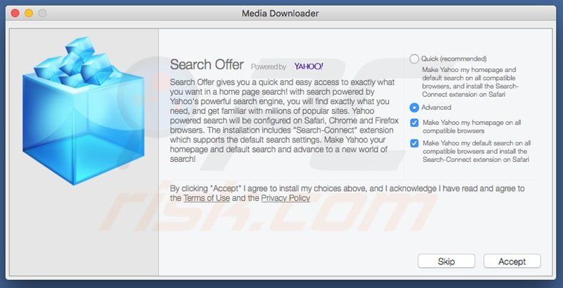 search.yahoo.com browser hijacker installer Mac