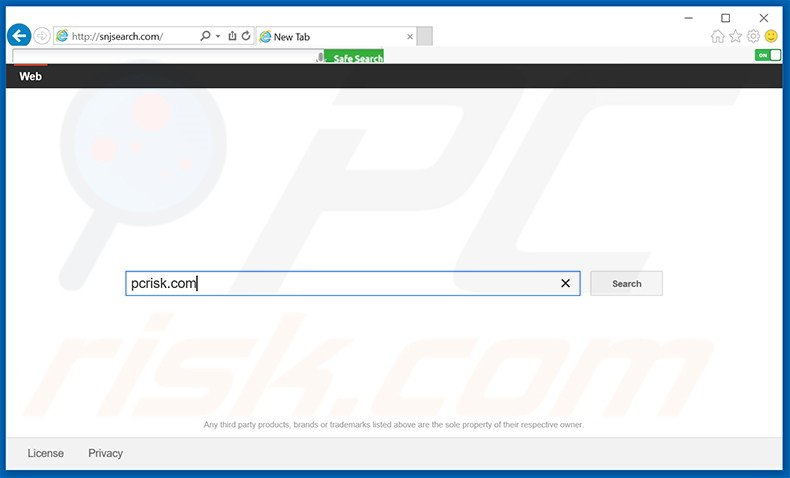 snjsearch.com browser hijacker