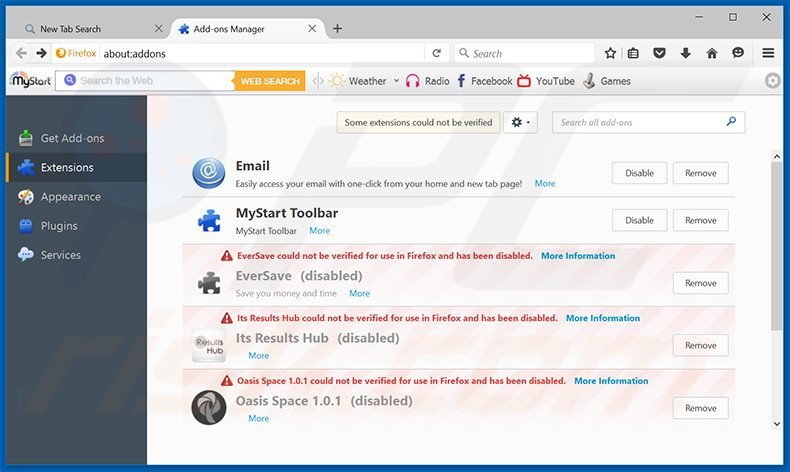 Removing Taboola ads from Mozilla Firefox step 2