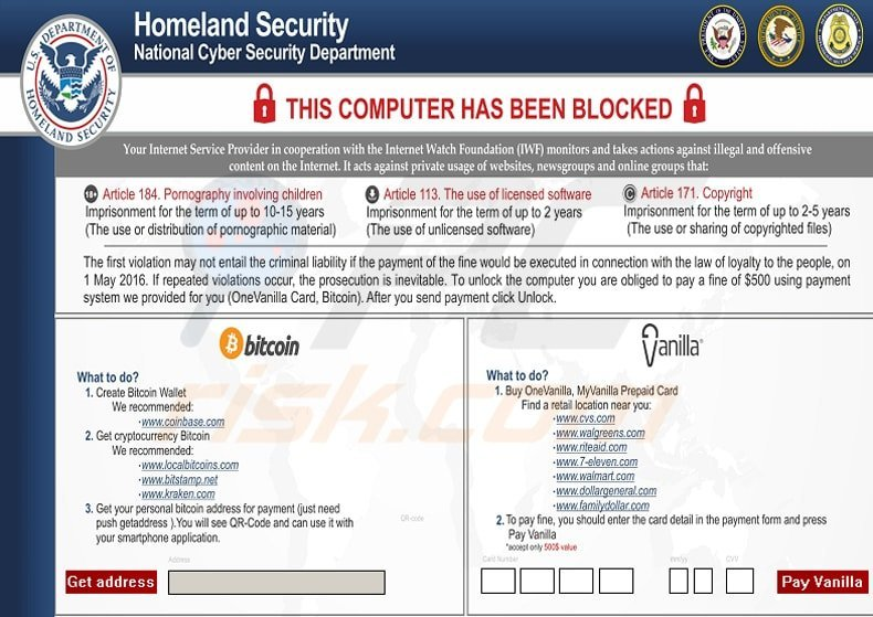 homeland security screen blocking ransomware updated version 2016