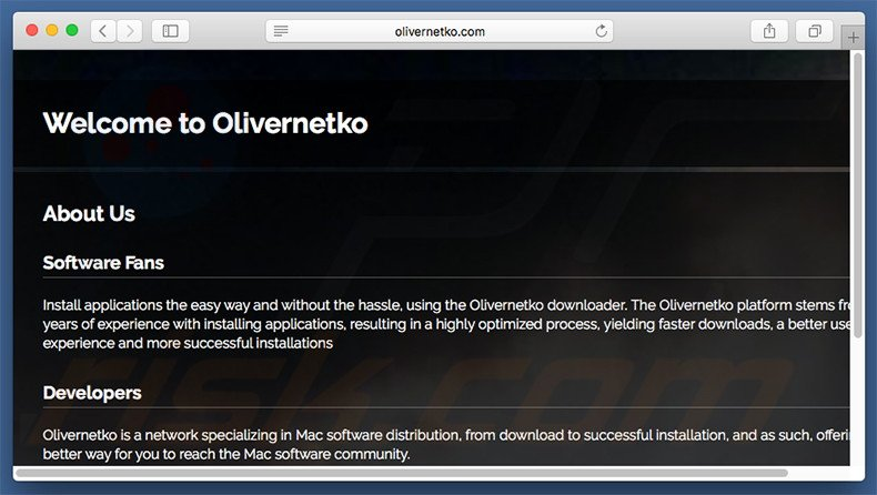Dubious website used to promote search.olivernetko.com