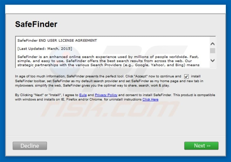 How to get rid of Search SafeFinder com Redirect - virus removal