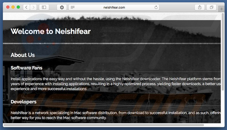 Dubious website used to promote search.neishifear.com