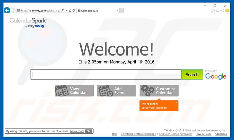 How to get rid of CalendarSpark Toolbar - virus removal guide