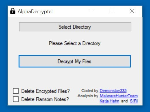 encrypted ransomware decryption tool