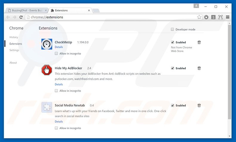 how to get rid of google extensions