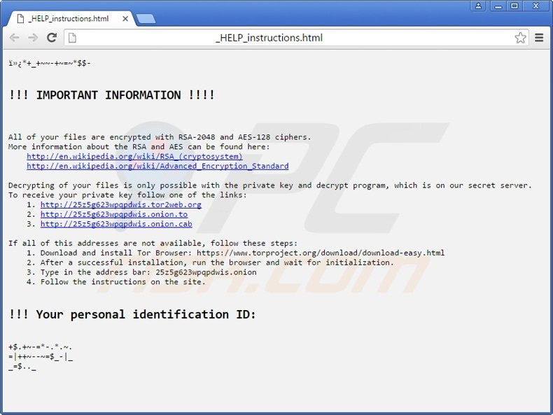 locky ransomware _HELP_instructions.html file